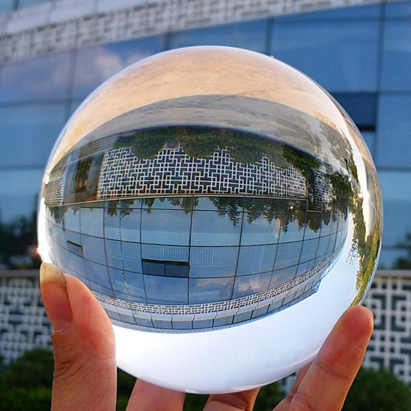 XINTOU Large Crystal Lens Ball 100 mm Feng Shui Home Art Decor Sphere Grazing Ball Photography Props for amateur photographer-in Figurines & Miniatures from Home & Garden    2