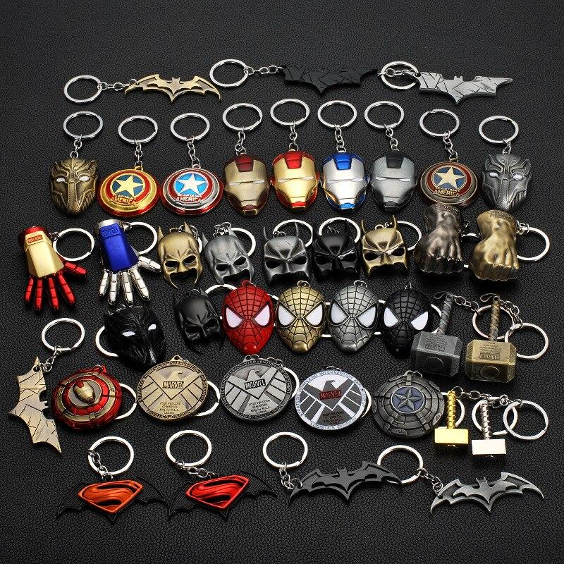 the-font-b-avengers-b-font-captain-america-shield-spiderman-batman-keychain-toy-superhero-hulk-iron-man-marvel-jewelry-metal-pendant-keychains