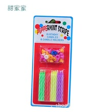 24 / bag bright creative romantic party birthday cake candle party holi