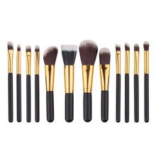 12Pcs Black Wood Blending Makeup Brush Set Professional Cosmetic Brush Kit Make Up Brushes Tools Beauty pincel Maquiagem