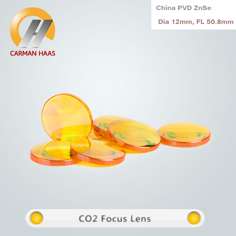 Manufacturer CO2 China ZnSe Focus Lens Laser  Engraving Cutting Dia. 12mm FL 50.8mm