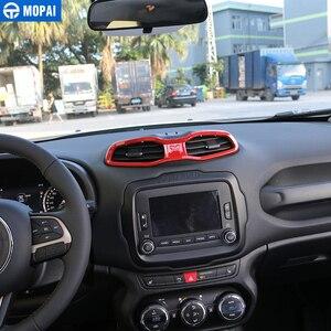 Image 3 - MOPAI ABS Auto Innen Dashboard Air Zustand Vent Outlet Dekoration Abdeckung Rahmen Aufkleber für Renegade 2015 2016 Auto Styling