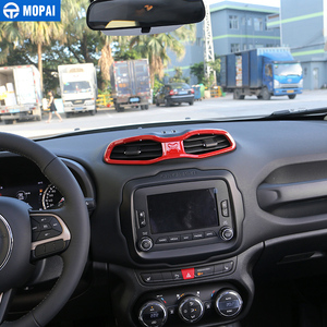 Image 3 - Mopai Abs Auto interieur Dashboard Airconditioning Vent Outlet Decoratie Cover Frame Stickers Voor Renegade 2015 2016 Auto Styling