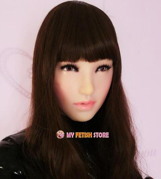 (XinY) качество ручной работы пластик реалист полная голова Женский/девушка Crossdress сексуальная кукла уход за кожей лица косплэй маска с парик