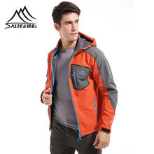 Saenshing Tahan Air Softshell Jaket Pria Hiking Bulu Mantel Hujan Memancing Jaket Outdoor Camping Trekking Soft Shell Jaket(China)