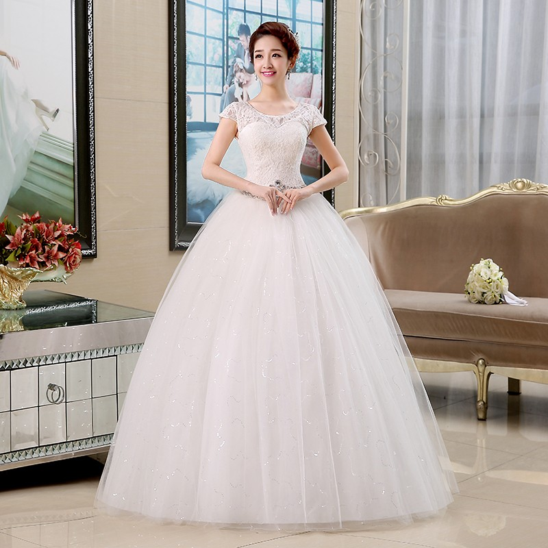 Free shipping 2016 New Arrival Korean Style Wedding Dresses White ...