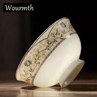 WOURMTH высокое качество 4,5 дюймов костяного фарфора салатная миска для супа чаши 10 шт./компл. китайская пиала для риса домашняя посуда.