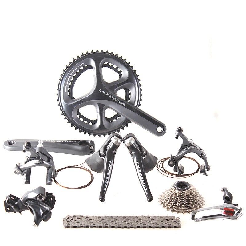 Shimano ULTEGRA 6800 2x11 22 S vitesse 50/34 53/39 170mm 172.5mm Kit de dérailleur de groupe de vélo de route