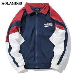 Aolamegs куртка мужская куртки мужские ягненка кашемир Толстая куртка спортивный костюм пальто хип-хоп Turn-Down Воротник модная мужская ветровка