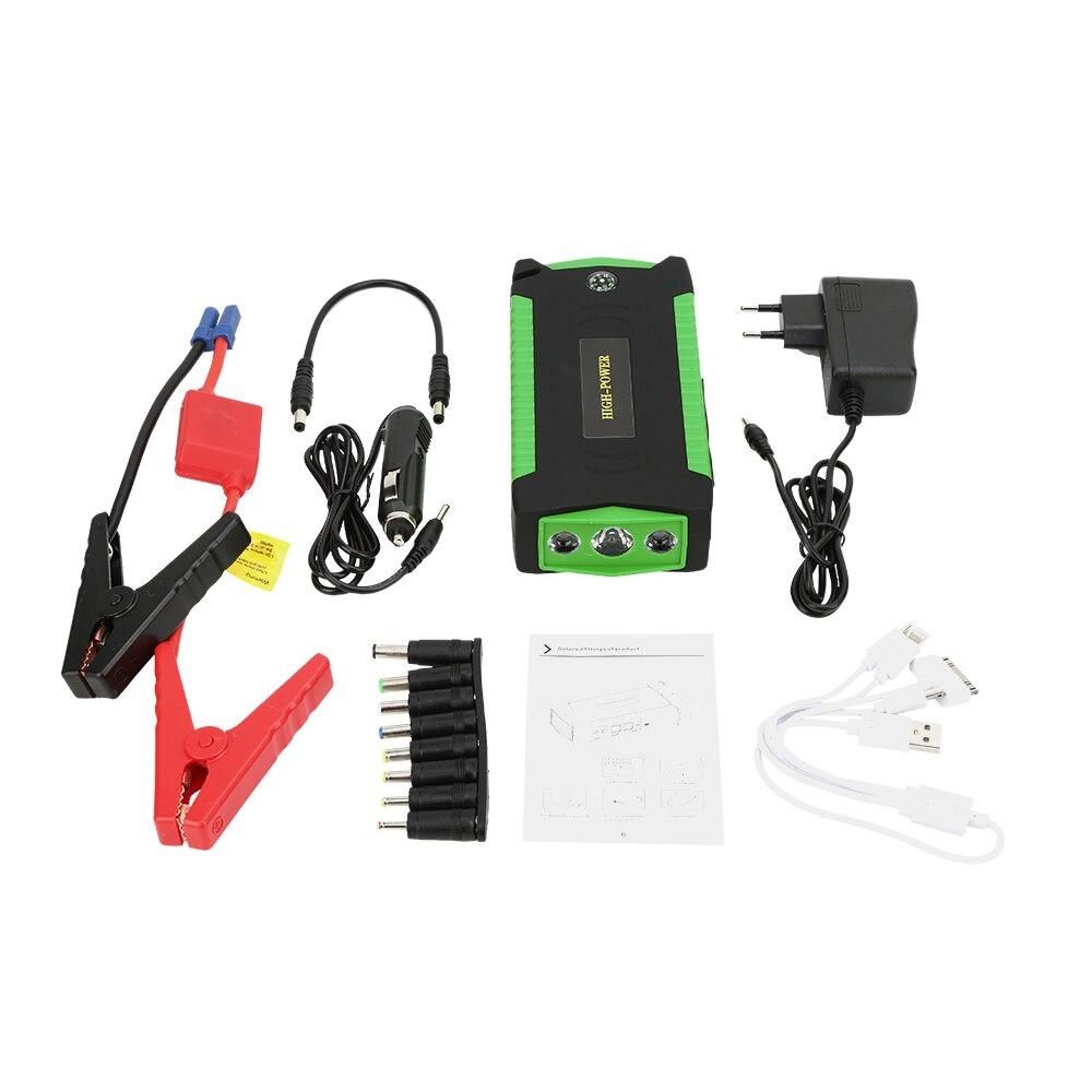 Multifonction Jump Starter Haute Capacité 16000 batterie mah D'urgence Éclairage Portable Booster chargeur de voiture 12 V Dispositif de Démarrage