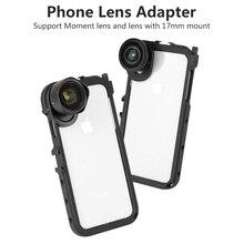 Ulanzi kamera wideo Vlog Case dla iPhone X Xs Max Flimmaking Case z momentem mocowanie gwintu obiektywu 17MM zimny but 1/4 gwint