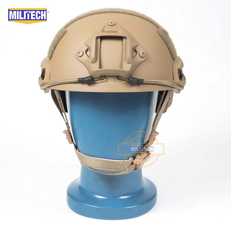 MILITECH FAST Coyote FA Style Super ABS Airsoft Tactical Helmet Ops Core Style High Cut Training Helmet Ballistic Style Helmet militech fast atau pj carbon style vented airsoft tactical helmet ops core style high cut training helmet ballistic style helmet