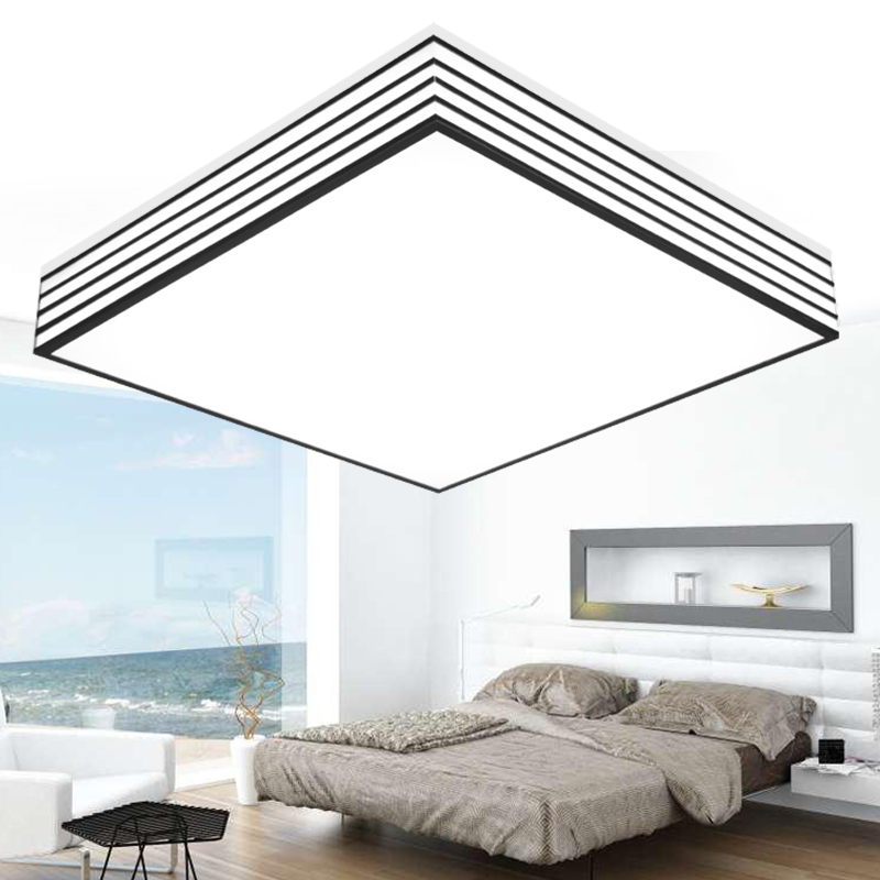 modern minimalist bedroom lamp study lamp Modern office light State LED Ceiling Light rectangular acrylic ceiling living room led circular ceiling lamps chinese real wood art acrylic modern minimalist bedroom study decorated living room ceiling lights za