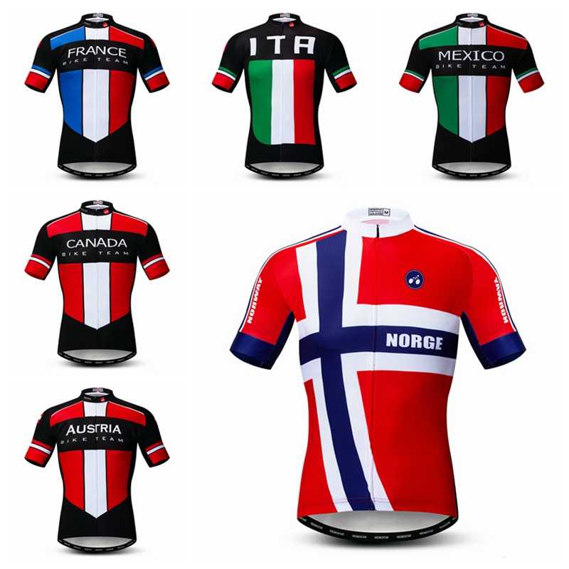 3c867d7b2 Weimostar National Team Cycling Jersey Shirt Men Summer Sport Bicycle  Clothing Maillot Ciclismo Quick Dry mtb