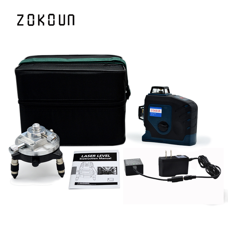 Professional 12 Line Green 3D German Laser Module 360 Vertical And Horizontal Laser Level Self Leveling