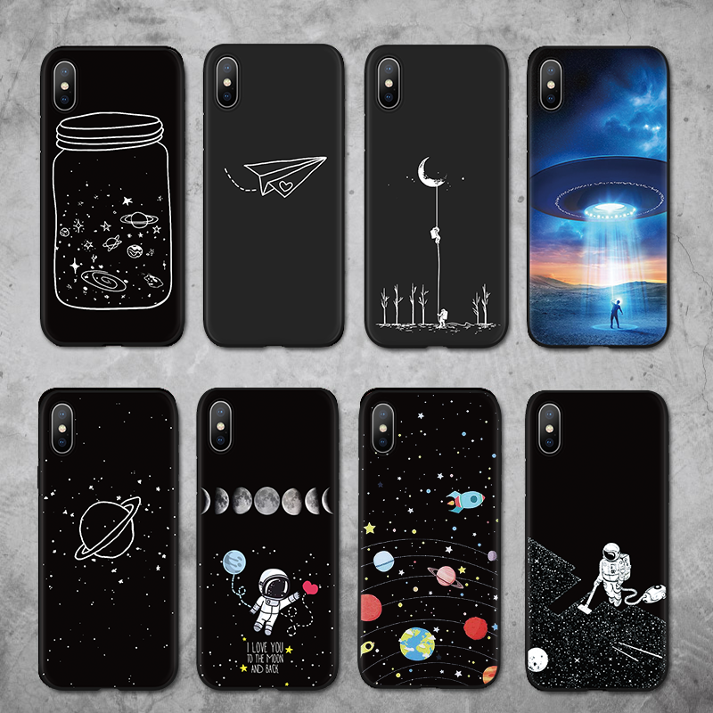 Planet Silicone Case For Iphone 7 Plus 8 5 SE 6 6S 11 Pro Max X XS Max XR For Motorola Moto G5S Plus For Moto G6 Play TPU Coque