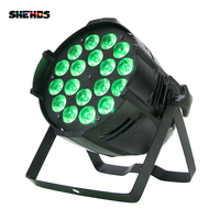 Free Shipping Aluminum Alloy LED Par 18x12W RGBW 4IN1 LED Light Laser Show Projector DJ Disco Ishow Decorations For Home