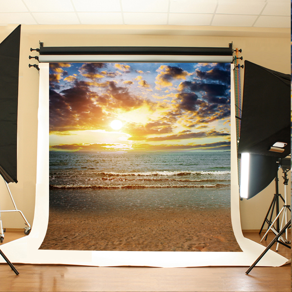 Wedding Photography Background Sunset Clouds Photo Booth Backdrops Sea Beach Wedding Background for Photographic Studio wedding photography background photo booth backdrops background for photographic studio balloon fantasy room pink wood floor