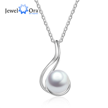Fine Jewelry 925 Sterling Silver Pearl Pendant Necklace Geometric Style Chain Necklace Women Accessories (JewelOra NE103195) michael kors sexy blossom туалетные духи тестер 100 мл