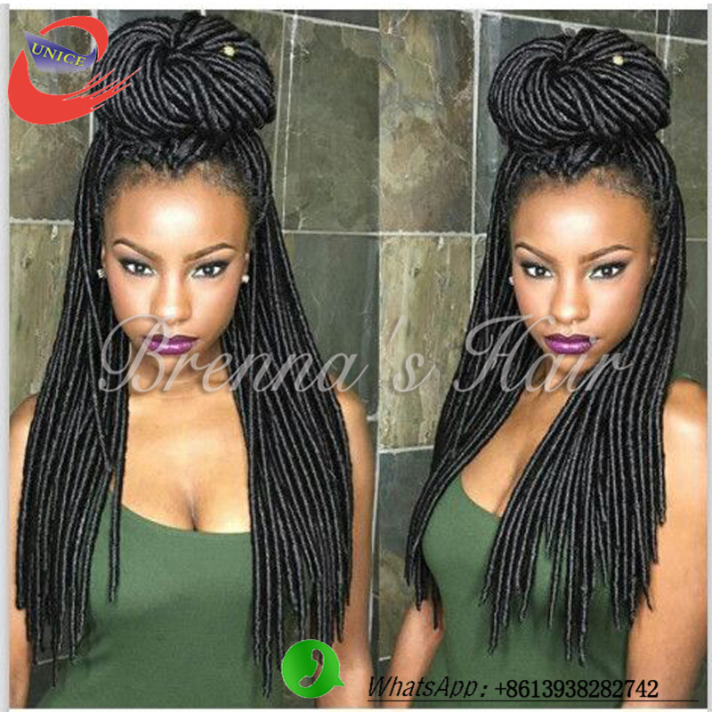 Crochet New Dreads :  New dreadlock extensions synthetic braiding hair faux locs crochet...