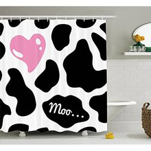 Vixm Cow Print Shower Curtain Camouflage Hide Pattern In