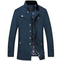 2017 nuevo estilo de ocio de moda chaqueta Trencas capa de alta calidad abrigo chaquetas windbreaker tamaño grande m-7xl