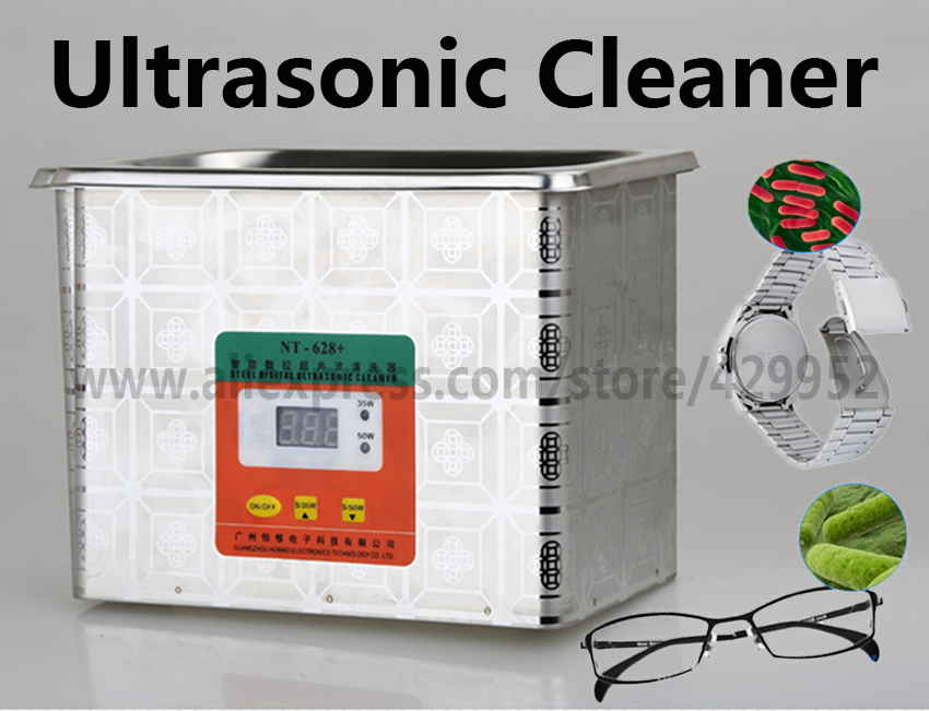 Ultrasonic Cleaner Stainless Steel Tank Digital Display 35W-50W For Cleanning Jewelry Glasses Watch Circuit Board ossieao hot 35w 60w 220v mini ultrasonic cleaner bath for cleanning jewelry watch glasses circuit board limpiador ultrasonico eu