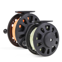 High quality GLA5/6 GLA7/8 Fly Fishing Reel 1:1 Hand-Changed Wheel with 20LB 30M fishing main line Backing Line Taper Leader Set