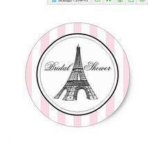 1.5 дюйма свадебный душ пользу Стикеры Париж, Франция тема