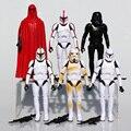 16 cm Tamanho Grande Figura Star Wars 6 pçs/sets Stormtrooper Clone Trooper Black Knight Darth Vader de Star Wars Figura de Ação com Arma