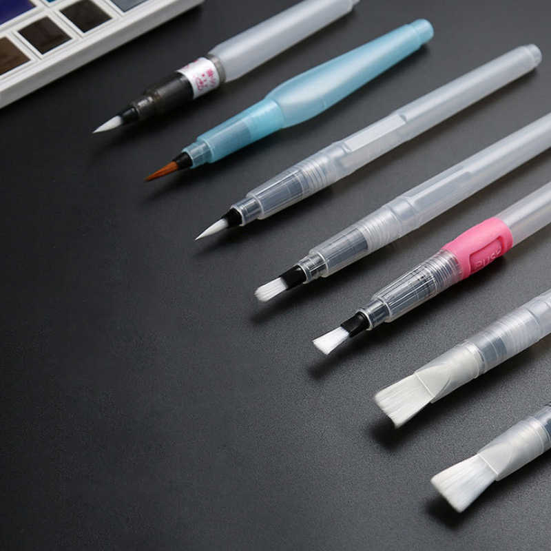 6 uds. Pinceles de acuarela de arte suave Pilot recargable lápiz de Color de agua pluma para dibujar pincel de pintura suministros de caligrafía