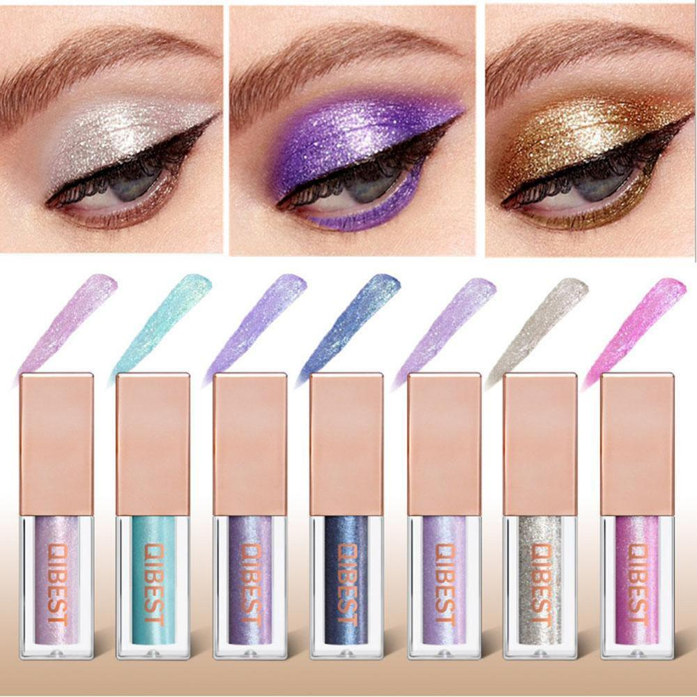 Heng Fang New Liquid Waterproof Diamond Glitter Eyeshadow Makeup Cosmetics White Copper Colors Shimmer Eye Shadows Beauty