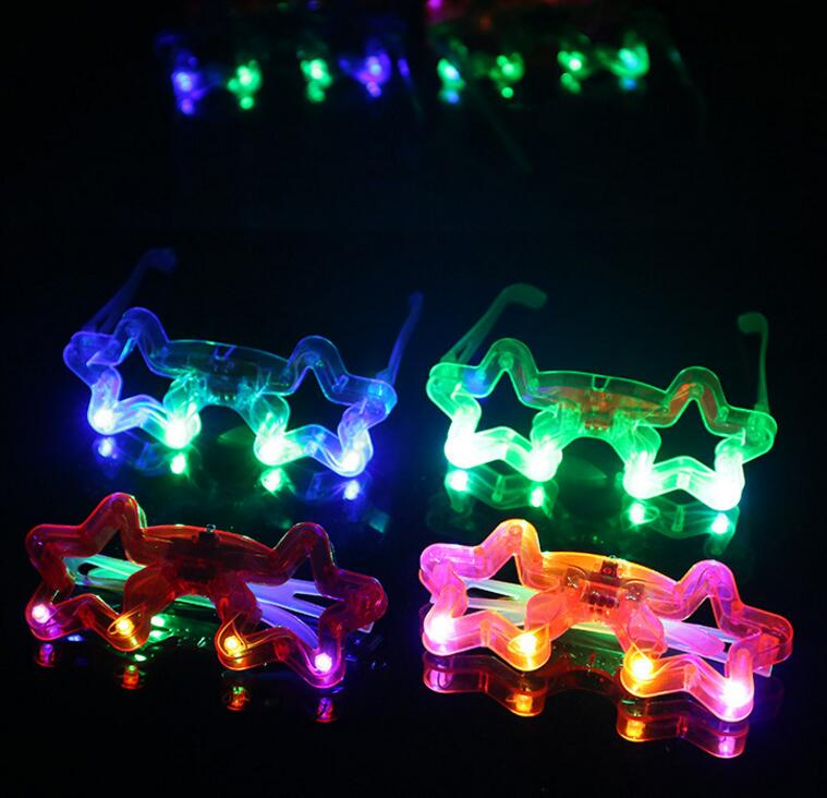 Butterfly LED Flashing Glasses Light Up Rave Toys For Halloween Masquerade Mask Dress Up Christmas Party