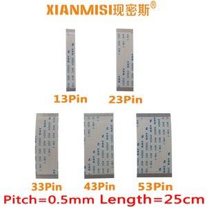 FFC/FPC Flat Flex Cable 13Pin 23Pin 33Pin 43Pin 53Pin Same Side 0.5mm Pitch AWM VW-1 20624 20798 80C 60V Length 25cm 5PCS(China)