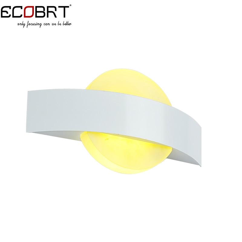ECOBRT мода современный минималистский Спальня ночники LED акрил балкон коридор Творческий настенные светильники Лампы для мотоциклов