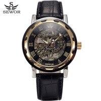 2012 New Machanical Auto Silver Case Hollow Wrist Sport Watch