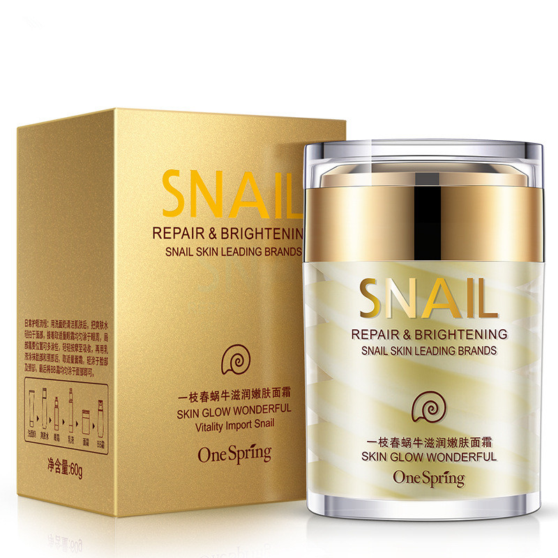 Snail Moisturizing Skin Cream Tender skin Mild Face cream facials Whitening Ageless Anti Wrinkles Lifting Facial Firming Care new package taiwan mei yan san bao 3 2 whitening cream for face skin care second generation