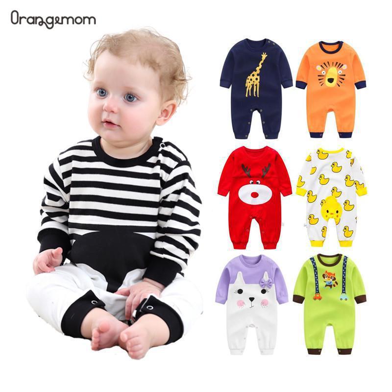 Orangemom 2019 appena nato del bambino della ragazza di usura del ragazzo puro cotone abbigliamento bambino, del bambino di modo del ragazzo dei vestiti del bambino pagliaccetti cotone 100% del corpo
