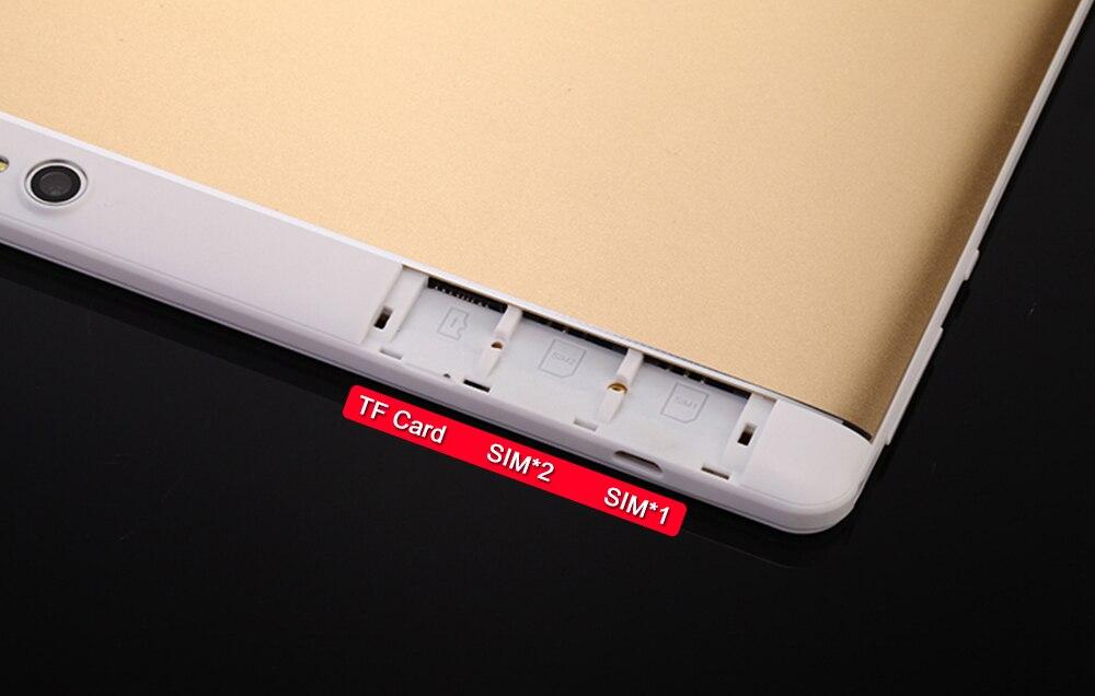 2018 MT8752 S109 64 ГБ Встроенная память 10.1 планшетный ПК Android 7.0 8 core dual Камера 8MP Dual Sim Tablet pc 1920x1200 GPS Bluetooth телефон