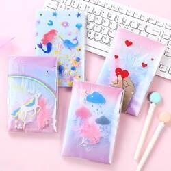 Корейский Kawaii перо Блестящий песок тетрадь путешествия Planbook студент канцелярские подарки на день рождения