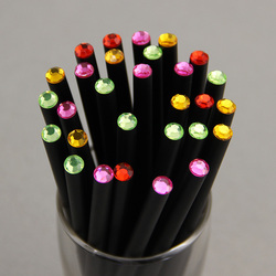 12pcs lot new crystal beautiful pencil black color standard pencil specil shining pencil gift cheapest on.jpg 250x250