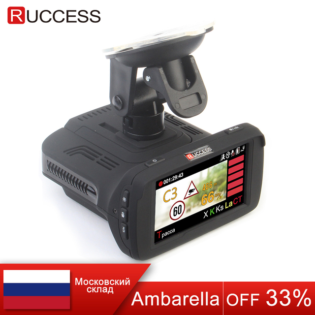 Ambarella A7LA50 3 In 1 GPS Car DVR Car Camera Anti Radar Car-Detector Dash Cam Video Recorder 1296p Speedcam HD 1080p Strelka