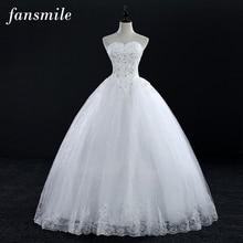Fansmile настоящая фотография плюс Размеры Винтаж Кружева торжественные платья 2016 принцесса Vestido Де Noivas бальное платье Бесплатная доставка FSM-110F