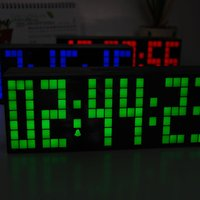US plug LED Display Electronic Despertador With Date Temperature Desk Display Electronic Clocks Desk For Office Home