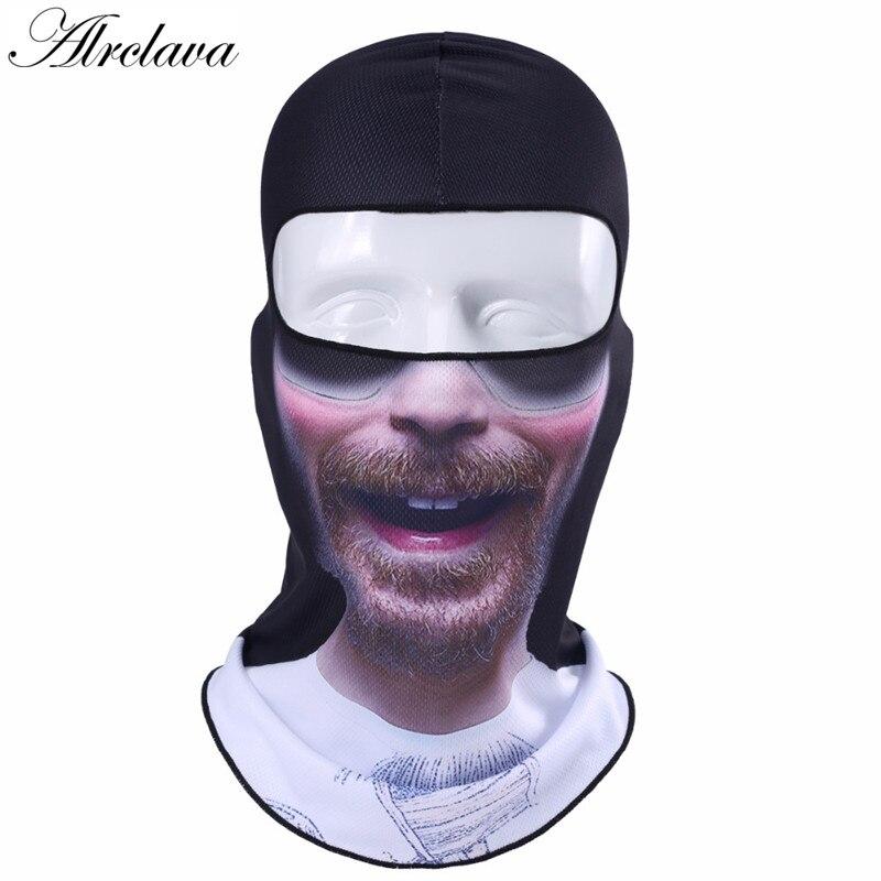 3d Printing Skull Balaclava Motorcycle Face Mask Windproof Breathable Biker Racing Cap Helmet Face Shield Hood