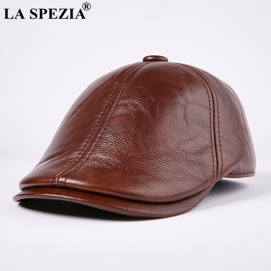c53c7fdeeb6 ... Casual Genuine Leather Male Ivy Caps Warm Winter Thick Adjustable  Designer Duckbill Flat Hats. Feature  Burgundy Hat Beret Men   Male Ivy  Caps Warm ...