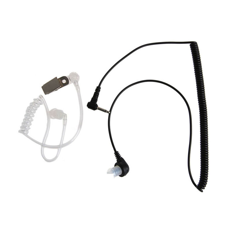 Sicherheit & Schutz Mool 3,5 Mm Stecker Port Hören Nur Headset Ohrhörer Einzel Kopfhörer Klar Schallschlauch Modische Muster