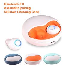 Mini oreillettes Bluetooth 5.0 TWS, étanches, sans fil, stéréo, avec étui de charge 500Mah, avec micro, pour IPhone Xiaomi Huawei