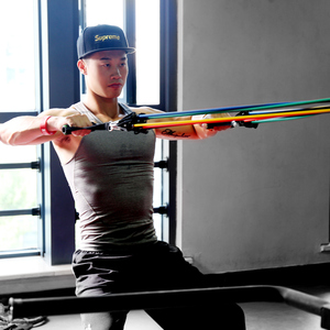 Image 5 - 11/12pcs Pilates Latex Tubing Expanders Exercise Tubes Practical Strength Resistance Band Sets Fitness Equipment