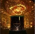 Moda de nova Auto Rotating Estrela & Love Musical Projetor de Luz Pequeno Noite LEVOU Lâmpada do Transporte Livre com Número Da Trilha 12000073